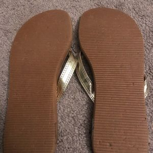 Guess Shoes - Guess women's sandals size 7. Gold with 💎 detail
